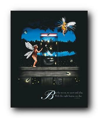 "POSTER FANTASY FARIES & FIREFLIES 16x20"" Wall Hanging fairy Pixie Star Dust"