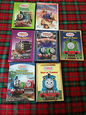 Lot Of 7 Thomas The Tank Engine/train & Friends Dvd's