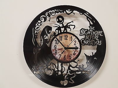 Nightmare Before Christmas (2) vinyl record clock home decor gift