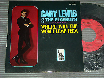 Gary Lewis The Playboys -Where Will Words , French Ep Psych Sunhine Pop Beat