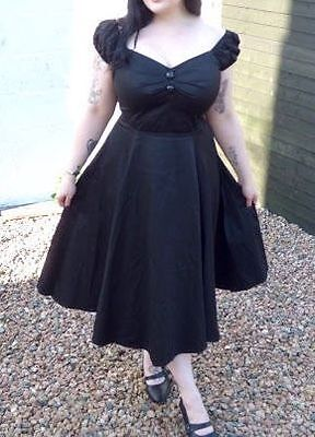 Collectif Dolores Swing Dress Size 14 Dita Von TeeseGoth Pinup Rockabilly