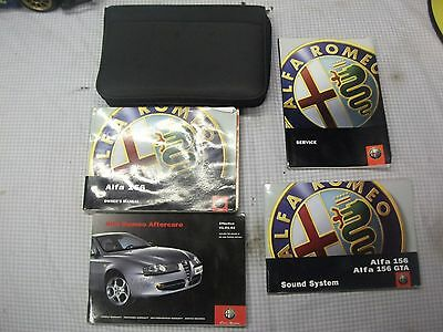 Alfa Romeo 156 2002 - 2004 Owners Manual / Handbook Etc Complete With Wallet
