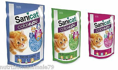 sanicat color4you lettiera in silicio agglomerante profumata fresh 5 pz