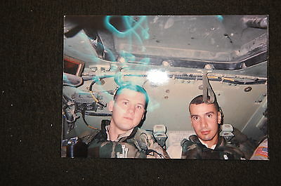 EARLY OPERATION IRAQI FREEDOM 1st ARMORED DIVISION PHOTO - MEN IN BRADLEY