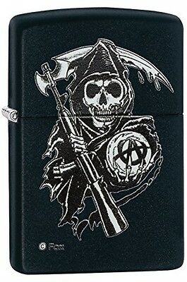 Zippo Sons Of Anarchy Reaper Windproof Pocket Lighter - Black Matte