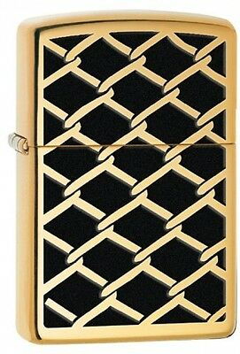 Zippo Fence Design Windproof Pocket Lighter - High Polish Brass