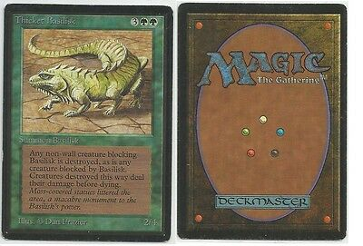 Thicket Basilisk Beta Magic the Gathering International bidders are welcome