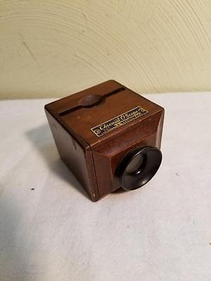 Vintage Chromat O Scope Wood Wooden Slide Viewer Good Condition