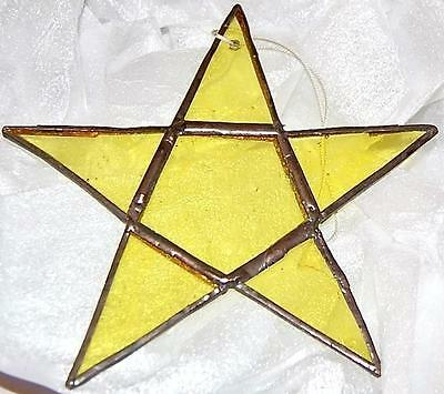 Stained Glass Star. Lemon/Yellow. Hand made at Rumpus.