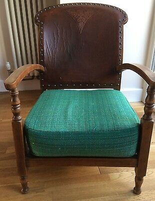1920/30's leatherbacked chair