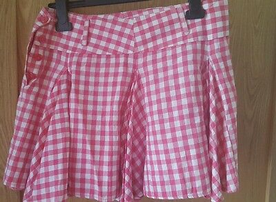 Age 15-16 white checked skirt