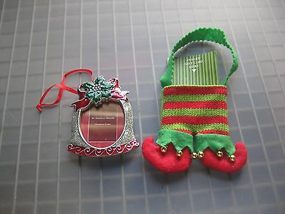 Christmas Bell Picture Frame Ornament & Gift Card Holder Red & Green Stocking 2