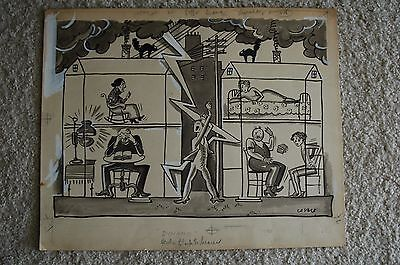 Oscar Cesare ORIGINAL DRAWING FOR SUBMISSION TO NEWS 1920 DYNAMO ELECTRIC