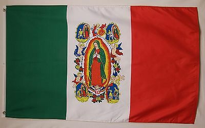 Our Lady Of Guadalupe Flag 3' X 5' Indoor Outdoor Christian Horizontal Banner