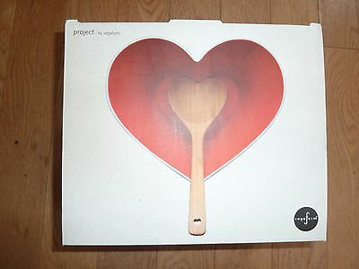 heart shaped serving dish with spoon