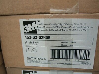 3M,EXPIRED,mask replacement cartridges,453-03-02r06,lot of 6,new old stock,FR-57