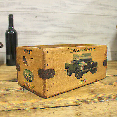 Vintage Land Rover Box Great Gift Wooden Storage Crate Series 1 Defender