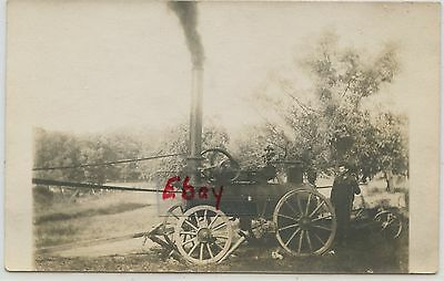 Rppc Steam Engine With Farmer Early Farming Tractor Type