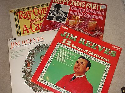 Job Lot of 4 Christmas albums - JimReeves, Ray Conniff George Chisholm