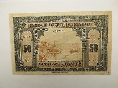 Bank note of Morocco-1943 50 Francs-