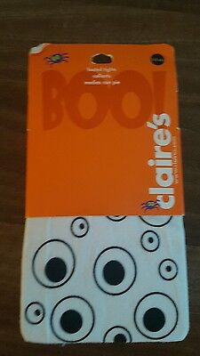 Age 3-4 4-5 5-6 white eyes halloween footed tights