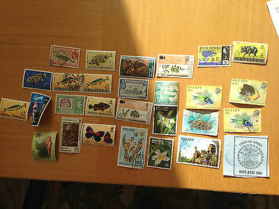 British Honduras Belize mint and used assortment all off paper from estate