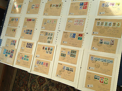 Luxembourg FDCs all sent registered mostly with nice and better sets LOOK