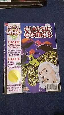 doctor who classic comics - ISSUE 13 (with free poster - no badge)