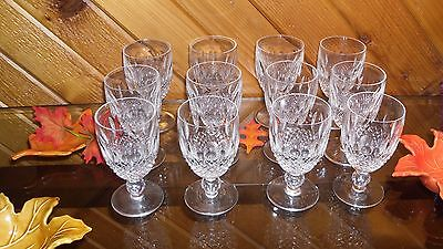 """Waterford Crystal """"colleen"""" Claret Glasses - 12 Pcs."""