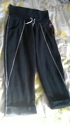 Girl's M&Co Kylie Crop tracksuit bottoms / trousers age 13 / 13+