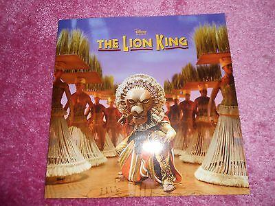 the lion king broadway programme book