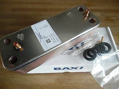Baxi Duotec Dhw Heat Exchanger 20 Plate 7223558 Was 248723 New