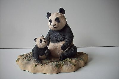 **border Fine Arts The Chiltern Collection Wwf Giant Panda & Cub 1986 Rw19**