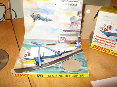 DINKY TOYS  MODEL No.724  SEA KING HELICOPTER  MISSING ' SPACE CAPSULE VN MIB