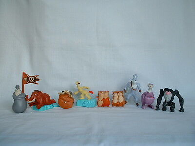 ICE AGE Set Of 8 Plastic Action Figure Toys (2/3/4/5/SCRAT/SID/MANNY/DIEGO/GUTT)