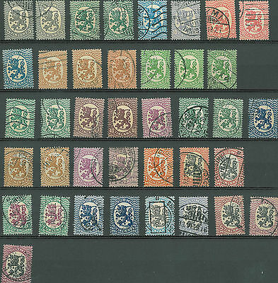 Finland lions 39 stamps