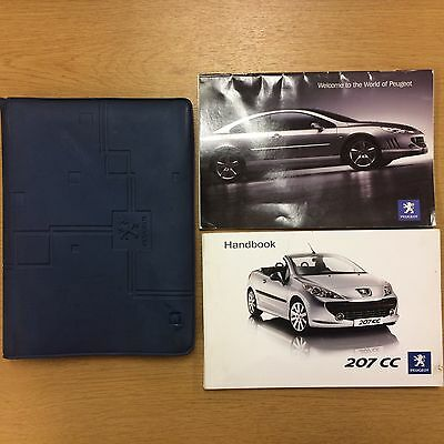 Peugeot 207 CC Cabriolet handbook owners manual  pack