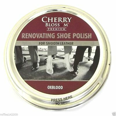 Cherry Blossom Premium Renovating Shoe Polish Smooth Leather 50ml ALL COLOURS