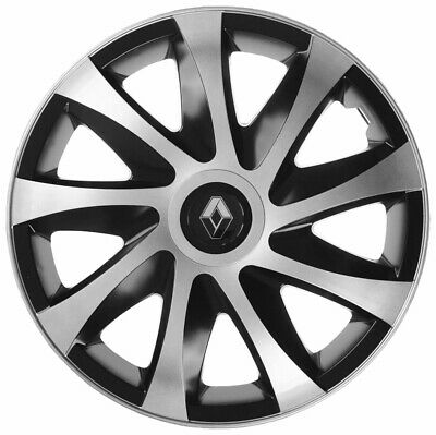"4x16"" Wheel trims covers fit Renault Trafic Megane 16"" full set silver/black"