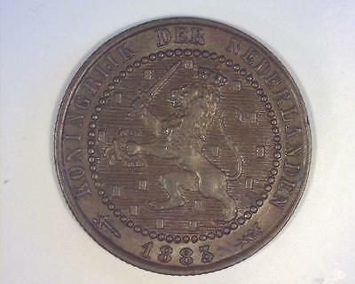 Netherlands 1883 Cent Km107.1 About Uncirculated Au ~1001890-O