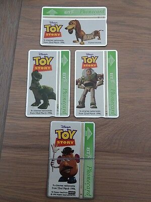 BT Phonecard, set of 4, Disney Toy Story, Limited Edition, 20units, Used
