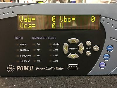 GE Multilin PQMII Power Quality Meter PQMII-T20-C-A