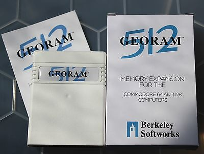 GEORAM 512 RAM Expansion Unit by Berkeley Softworks for Commodore 64 & 128 [F03]