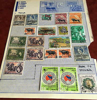 OLD  - KENYA - UGANDA and TAGANYIKA Stamps x 21