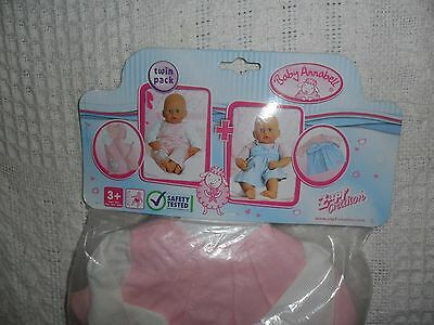Baby Annabell Fashion Twin Pack Outifts/Clothes Fits 43 cm to 46 cm Dolls NEW