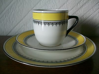 Vintage Foley China Trio, EBC Pattern 1047, 1 Cup 1 Saucer 1 Plate