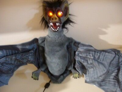 Vintage Telco Animated Flying Bat With Lighted Eyes.