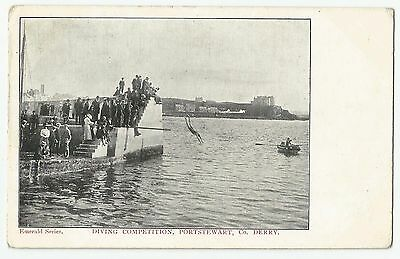 Old Postcard 'Diving Competition' Portstewart Co Derry/Londonderry