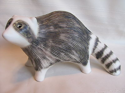 Original Strawberry Hill Pottery Raccoon NICE !!!