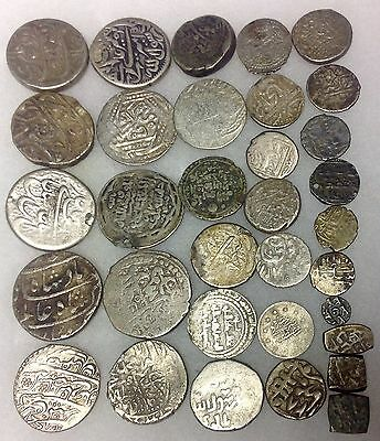 Lot of Islamic Silver Coinage, Diverse, Identifiable 33 total